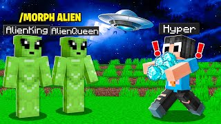 We Morphed Into ALIENS And Pranked My Minecraft Friend!