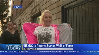 *NSYNC Fans Camp Out Overnight For Walk Of Fame Ceremony