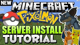 How to Install a Pixelmon Server - Minecraft Mod Install Tutorial 1.6.4/1.7.2/1.7.4 - Forge
