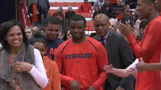 Syracuse Men's Basketball Senior Night Ceremony