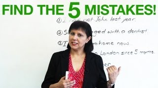 Basic English Grammar - Find the 5 mistakes!