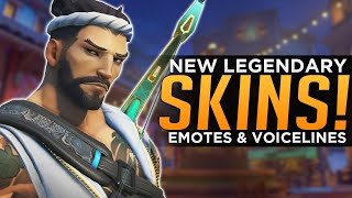 Overwatch: All NEW Legendary Skins, Emotes & Highlight Intros!
