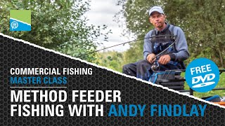 A thumbnail for the match fishing video Method Feeder Fishing With Andy Findlay - Commercial Fishing Masterclass FREE DVD!
