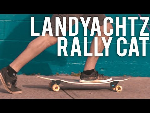 Video LANDYACHTZ Longboard Complete RALLY CAT 35
