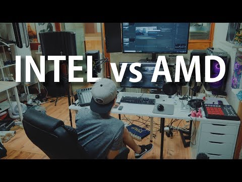 INTEL vs AMD   영상, 음악 제작자에게 좋은 CPU란? (수요일엔용호수 #8)