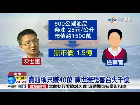 賣油稱只賺40萬 陳世憲恐害台失千億│中視新聞 20180117