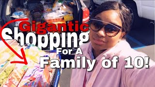 😱GIGANTIC GROCERY🛒 SHOPPING FOR FAMILY OF 10!