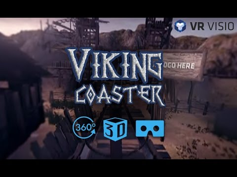 Crazy Rollercoaster in VR 360 degree video - Viking Coaster (3D) by VR Visio