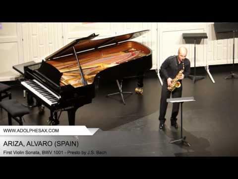 Dinant 2014 - ARIZA Alvaro (First Violin Sonata, BWV 1001 - Presto by J.S. Bach)