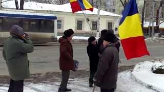 Protest la Ambasada federației Ruse la Chișinău