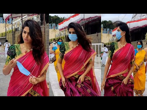 Dhee anchor Varshini Sounderajan visits Tirumala temple, viral video