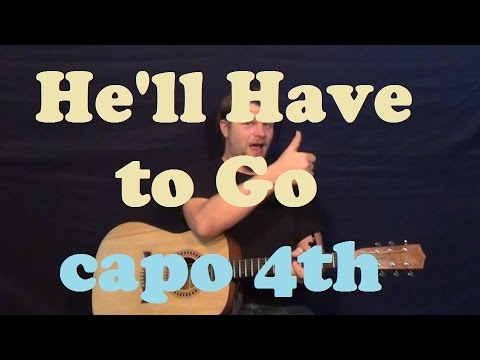 He'll Have to Go (Jim Reeves) Easy Guitar Lesson Strum How to Play Tutorial