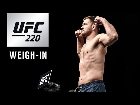 UFC 220: Official Weigh-in