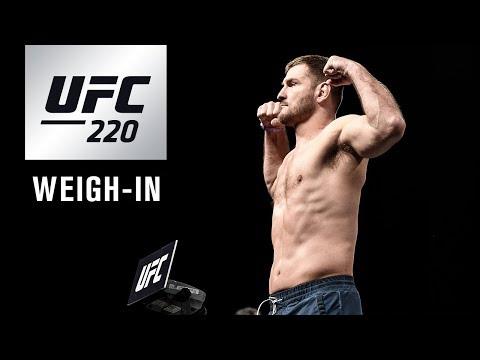 """Oficjalne ważenie przed UFC 220: """"Miocic vs Ngannou"""" – na żywo w MMAnews o północy"""