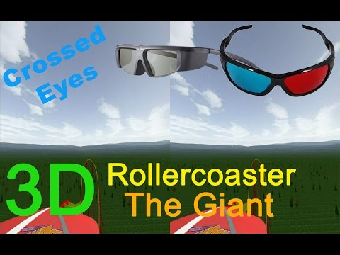 3D Rollercoaster: The Giant (3D for PC/3D phones/3D TVs/Crossed Eyes)