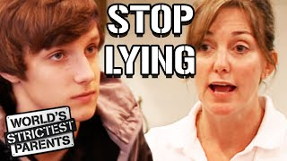Teen Lies and Gets Searched On By Parents | World's Strictest Parents