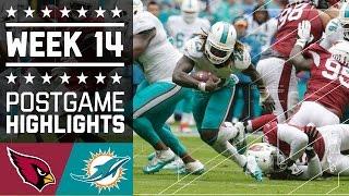 Cardinals vs. Dolphins | NFL Week 14 Game Highlights