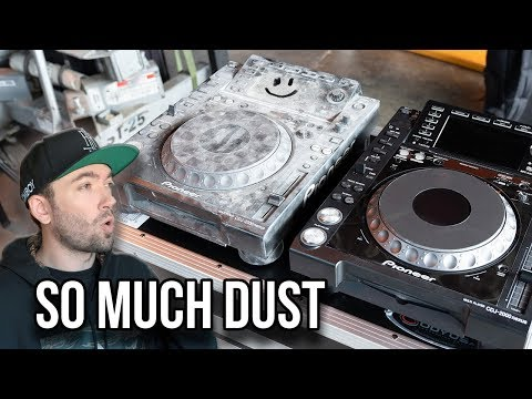 Cleaning my CDJs from Burning Man