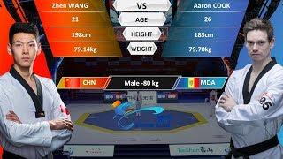 M-80kg   Aaron COOK(MDA )VS Zhen WANG(CHN)   2017-2018 Season WT Grand Slam Finals