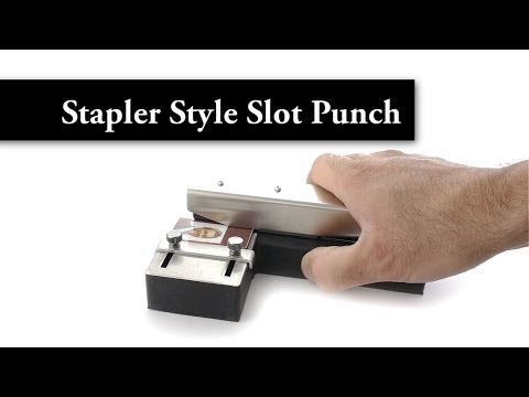 Style Slot Punch with Adjustable Guide for ID Card