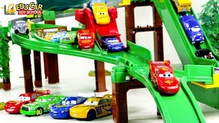 Learning Color Disney Cars Lightning McQueen Mack Truck tomicar drive Play for kids car toys