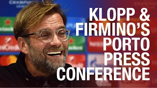 Liverpool's Champions League press conference | Klopp and Firmino preview Porto