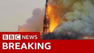 Notre Dame: Blaze engulfs medieval icon - BBC News - YouTube