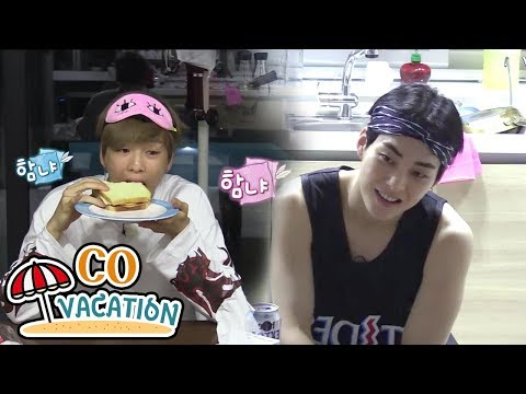 [Co-Vacation: Xiumin & Daniel] Xiumin Waits Til Daniel Finishes His Food 20170904