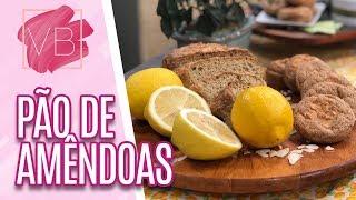 Pão de amêndoas com limão siciliano   Chef Carina Boniatti