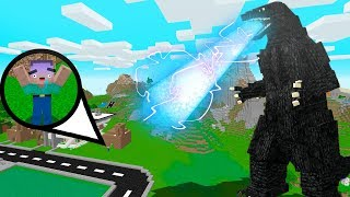 THỬ THÁCH NOOB ĐẤU VỚI GODZILLA TRONG MINECRAFT (Huy Noob Minecraft)