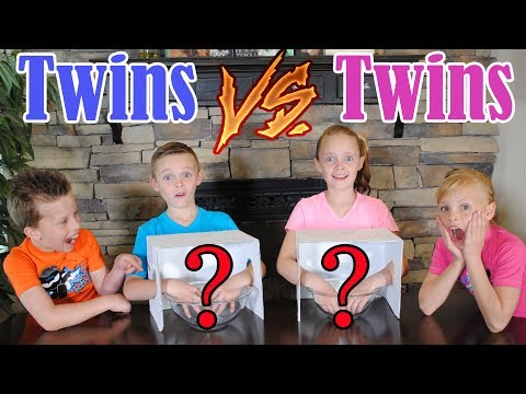 Twin Boys vs Twin Girls WHAT'S IN THE BOX CHALLENGE! Ninja Kidz TV and Kids Fun TV Together!