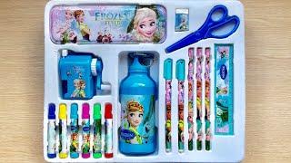 Bộ dụng cụ học tập công chúa Elsa Anna 13 món, bút thước, bình nước, màu - Toys for kids (Chim Xinh)