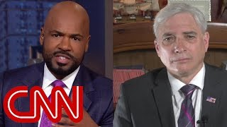 CNN anchor to Trump board member: That is absolutely untrue