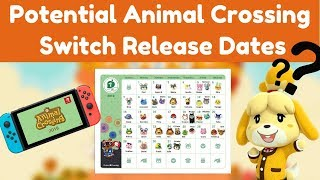 Potential Animal Crossing Switch Release Dates