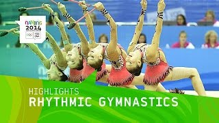 Russia Win Women's Group Rhythmic Gymnastics Gold - Highlights | Nanjing 2014 Youth Olympic Games