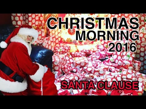 Christmas Morning kids opening presents 2016 EPIC (Santa was here)