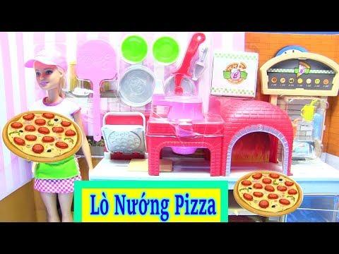 Mở Hộp Đồ Chơi LÒ NƯỚNG PIZZA Của Búp Bê Barbie - Barbie Pizza Chef Doll and Playset, Blonde