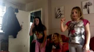 Me and my baby sister and Ella dancing to baby shark