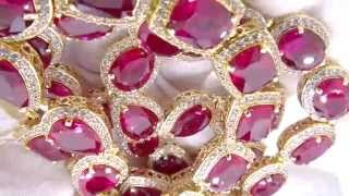 Rick Ross Style Simulated Ruby Bling Bling Chain | Hip Hop Jewelry