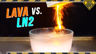 Mixing LAVA with LIQUID NITROGEN