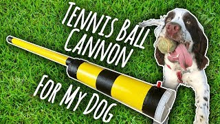 Building My Dog a Tennis Ball Cannon