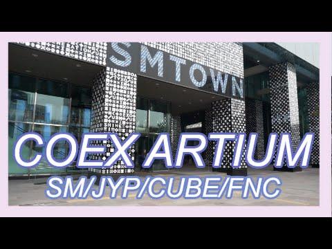 KPOP VLOG! || SMTOWN Coex Artium + JYP/FNC/CUBE/SM