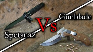 Spetsnaz Ballistic Knife VS Gunblade (Ultimate Test) Lords of the Blades Ep.12
