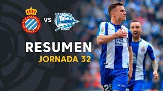 Resumen de RCD Espanyol vs Deportivo Alavés (2-1)