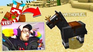 I FOUND LAZARBEAM'S LOST HORSE!! (Minecraft)