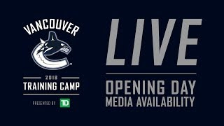 Vancouver Canucks 2018.19 Opening Day Media (Sept. 13, 2018)