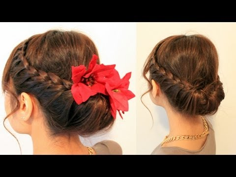 Sensational Braided Over Ponytail Cute Girls Hairstyles Hair Video Short Hairstyles Gunalazisus