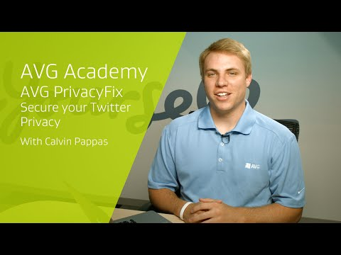 AVG's Calvin Pappas walks you though how to quickly and easily secure your Twitter privacy with AVG PrivacyFix 3.0.