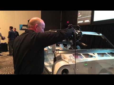 Demonstration of new MetraSCAN – High speed 3D Scanning for large parts
