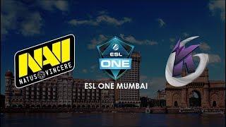 Live English: NAVI vs KEEN GAMING BO3 | ESL One Mumbai | Lower Bracket Finals